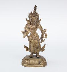 "A figure of Bodhisattva ""Ksitigarbha"" China/Tibet, 19th Century"