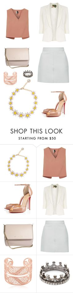 """""""Untitled #1085"""" by k-8314-k ❤ liked on Polyvore featuring Dolce&Gabbana, Topshop, Christian Louboutin, Jolie Moi, Givenchy, Arabel Lebrusan and Loree Rodkin"""