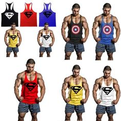 Men tank top #stringer #bodybuilding gym fittness vest #summer training sports ve,  View more on the LINK: http://www.zeppy.io/product/gb/2/291754838312/
