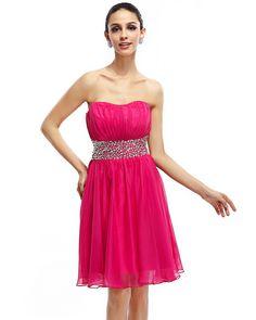 Modern-Chic Organza Red A-line Cocktail Dress