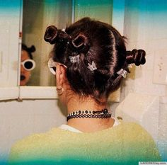 butterfly clips ( with all the 90s trends, this photo had to be taken in that time) #90sFashion