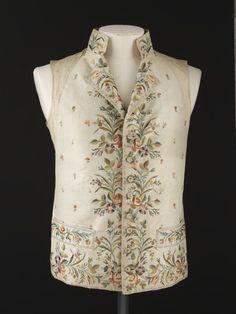 Waistcoat 1790s The Victoria & Albert Museum
