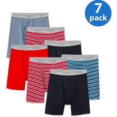 917c4a9e84c5 New Improved Fit! Fruit of the Loom Men's 7 pack Super Value Stripe/Solid