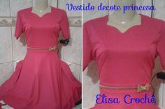 Costurando vestido com decote princesa e saia meio gode #Corte, costura ...