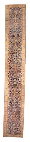 Tabriz runner  Northwest Persia,  late 19th century  size approximately 2ft. 10in. x 18ft. 1in.