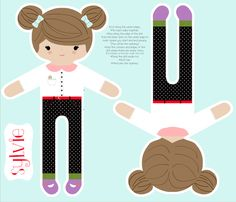 Sylvie Sew your own doll fabric by natitys on Spoonflower - custom fabric