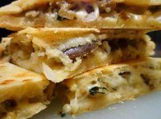 Vegetarian Eggplant Quesadilla Recipe