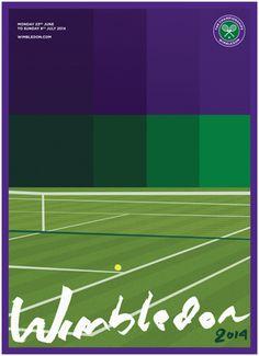 Wimbledon 2014 official poster #tennis