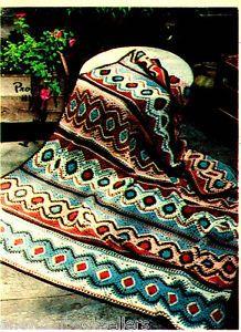 mosaic afghan | ... Pattern to Make BEAUTIFUL MOSAIC DIAMONDS AFGHAN ~ Crochet PATTERN