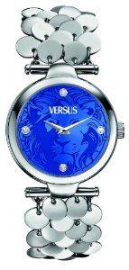 Versus by Versace Women s SGW030013 Paris Lights Analog Display Japanese  Quartz Silver Watch  pretty   4d2054083e7