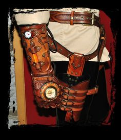 steampunk bracer and maverick holster by *Lagueuse on deviantART