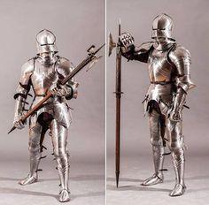 Complete Gothic Armor c. 1440-1470 Armadura completa de estilo gótico, tipo 1440-1470