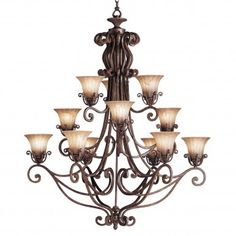 Buy the Kichler Carre Bronze Direct. Shop for the Kichler Carre Bronze Cottage Grove Chandelier with 12 Lights - Chain Included and save. Large Foyer Chandeliers, Glass Chandelier, Chandelier Lighting, Lighting Store, Home Lighting, Cottage Grove, Commercial Lighting, Mirror With Lights, Industrial Lighting