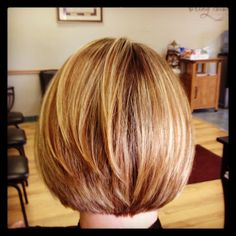 Short bob and hair color