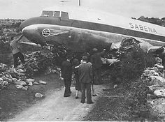 """This Sabena plane crashed in Connemara on its first journey across the Atlantic"". C'est Paul Hopff (thanks to him!) qui a identifié l'avion comme étant le C-47 OO-CBH, destroyed on 22 July 1946 near Kinvara (Galway, Eire), on delivery flight, cause run out of fuel!"