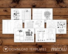 7 x 5 inch INSTANT DOWNLOAD Wedding Activity Book > Customizable front cover > Edit the text instantly at home using the FREE program Adobe Reader.