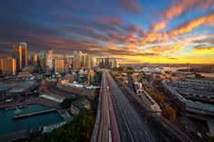 Blowing City by OaKy Isra, via 500px -- Sidney sunset