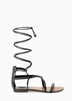 Strap cord sandals -  Women | MANGO