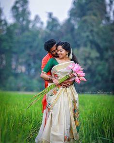 Kerala Wedding Photography, Wedding Couple Poses Photography, Bridal Photography, Pre Wedding Poses, Pre Wedding Photoshoot, Indian Wedding Couple, Wedding Couples, Wedding Story, Wedding Bridesmaids