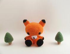 Amigurumi Fox / Fox Baby / Woodland Animals / Fox Plush / Amigurumi / Baby Lovey / Dog Toys / Cat Toys / Children Toy / Woodland Nursery. $30.00, via Etsy.