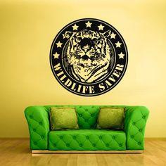Wall Vinyl Sticker Decals Decor Art Bedroom Design Mural Wildlife Saver Tiger Greenpiece Emblem Logo (Z2089) StickersForLife http://www.amazon.com/dp/B00GBVC316/ref=cm_sw_r_pi_dp_kwufvb1YTNT78