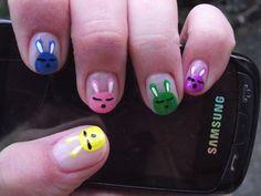 Easter bunny nail design!