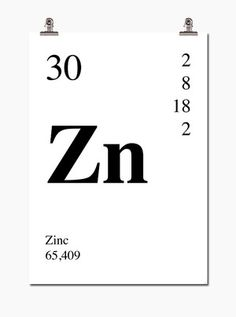 Poster Zinc 30x40