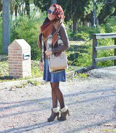 Look casual con falda de terciopelo #gabbysweetstyle