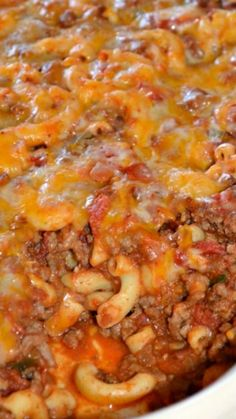 Chili Mac Casserole Recipe ~ comforting and delish