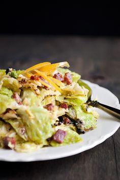 charred savoy cabbage salad