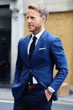 blue // #menswear #style #suit