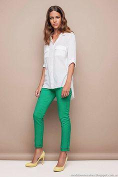 Pantalon menta y Camisa Básica #Awada