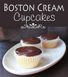 Boston Cream Cupcakes from Jamie Cooks It Up!