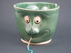 Ceramic Face Yarn Bowl. $50.00, via Etsy.