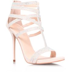 Carvela Kurt Geiger Glaze Sandals ($74) ❤ liked on Polyvore featuring shoes, sandals, nude, nude high heel shoes, glaze shoes, nude high heel sandals, nude shoes and high heel sandals