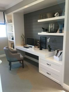 Contemporary Home Office Design Ideas For a Trendy Working Space Contemporary Home Office Design Ideas – A tiny office may gain from having actually. Tiny Home Office, Home Office Layouts, Home Office Storage, Home Office Space, Home Office Design, Home Office Decor, House Design, Home Decor, Office Ideas