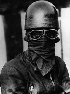 early 20th-century motorcycle racer