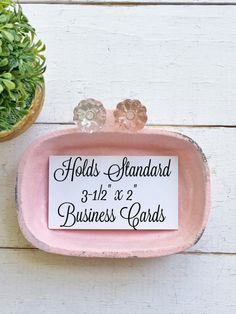 Shabby chic cream wedding cream business card holder cast iron business card holder shabby cottage chic in blushing pink cast iron glass petite knobs distressed metal craft show display colourmoves