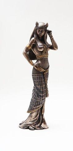 "Egyptian Feline Goddess Bastet Statue Ubasti Figurine 10"" Tall Bronze Patina | Collectibles, Cultures & Ethnicities, Egyptian | eBay!"