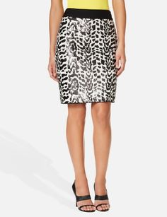 Animal print and sequnce perfect combo $34.99 Sequined Zebra Pencil Skirt