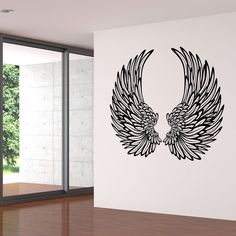 Angel Wings With Feathers Wall Stickers / Wall Decals Angel Wings with Feathers Wall Stickers Wall D Angel Wings Art, Angel Wings Wall Decor, Wings Drawing, Wall Drawing, Graffiti Wall, Wall Murals, Wall Stickers World, Wall Sticker Art, Bedroom Wall Stickers