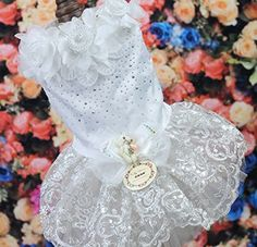 Lace Dog Dress Pet Wedding Skirt for Small Puppies *** Hurry! Check out this great product : Dog Dresses