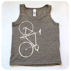 A personal favorite from my Etsy shop https://www.etsy.com/ca/listing/456428972/kids-bike-tank-top-bicycle-screenprint