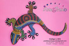 lagartijas puntillismo, dot painting, arteypunto Aboriginal Dot Art, Aboriginal Painting, Dot Painting, Stone Painting, Stick Art, Mandala Rocks, Dots Design, Scrapbook Embellishments, Button Art