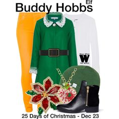Inspired by Will Ferrell as Buddy Hobbs in 2003's Elf.