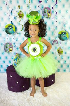 Cutie Monsters Inc. Princess Tutu Dress (Mike Wasowski)-
