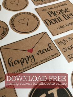 Running a small Etsy shop or sell handmade items? Download this free set of happy mail stickers!