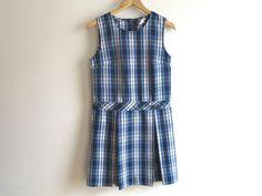 PLAID CATHOLIC SCHOOL GIRL UNIFORM DRESS. Adult XXXS XXS 000-00. EUC. $16.00.