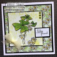 Craftilicious Creations: Artsystamper: Green, Green. It's Green They Say! Green Paper, Digi Stamps, Paper Background, Happy Monday, Shades Of Green, Overlays, Decoupage, Gallery Wall, Bows