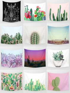 Society6 Cactus Tapestries - Society6 is home to hundreds of thousands of artists from around the globe, uploading and selling their original works as 30+ premium consumer goods from Art Prints to Throw Blankets. They create, we produce and fulfill, and every purchase pays an artist.